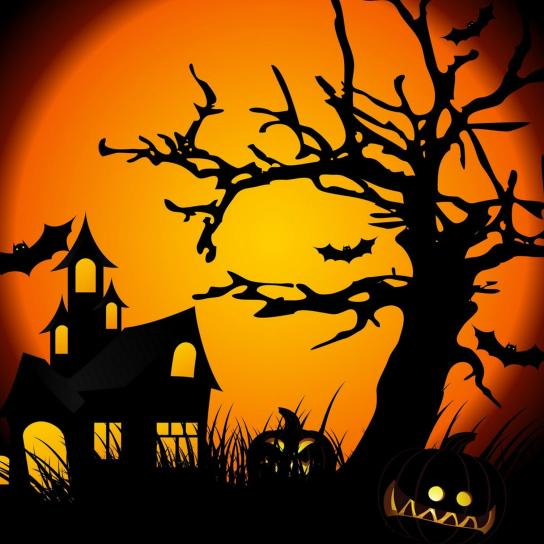 halloween-haunted-house-pumpkin-lights-free-hd